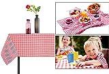 Lino cotone tovaglia Outdoor banchetto della festa di Natale e celebrazioni Copritavolo tovaglia da picnic campeggio coperta per giocare a scacchi, Cotone, Red, 1.4x2m