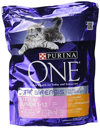 Purina ONE Kitten Dry Cat Food Chicken and Wholegrain 800g – Case of 4 (3.2kg)