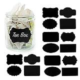 Oblique-Unique® 16 x Tafel Sticker Aufkleber Etiketten I Abnehmbare Reusable Vinyl-Sticker I Chalkboard Etiketten I Zur Beschriftung von Gläsern Lebensmittel Gewürz - wiederverwendbar