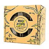 BIOZOYG Bio Einweggeschirr biologisch abbaubar I Grillbox 48 teiliges Einweg Party Geschirrset: 8 Zuckerrohr Teller eckig, 8 Zuckerrohr Schale, 8 Bio Einwegbecher, je 8 x Messer, Gabel, Löffel