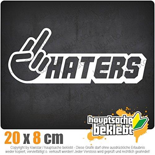 haters-20-x-8-cm-in-15-farben-neon-chrom-jdm-sticker-aufkleber