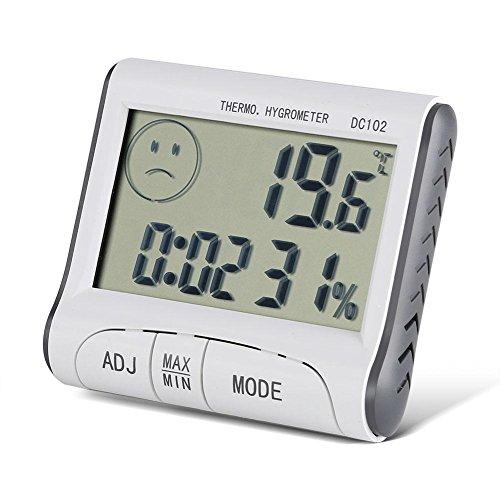 Termómetro Digital Temperatura LCD Casa Reloj Temperatura Humedad Medidor LCD higrómetro del termómetro...