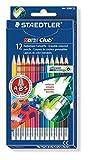 Staedtler - Noris Club 144 50 - Etui Carton 12 Crayons de Couleur Gommables Assortis