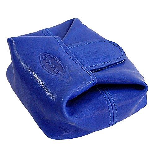 Branco kleines Geldsäckchen Mini Geldbörse Leder Münzbörse Minibörse Geldbeutel GoBago (Rot) Blau