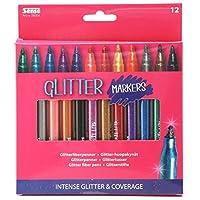Sense Glitter Markers Glitter Pen Set Broad Tip