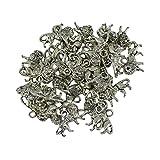 MagiDeal 50 Stk. Silber Charme-Anhänger Löwen Stil für Halskette & Armnband- DIY Schmuck Herstellen