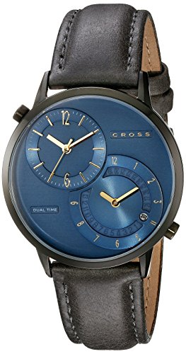 Cross Men's CR8034-03 Radial Dual Time Analog Display Japanese Quartz Grey Watch