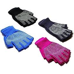 stargoods Yoga Antideslizantes–Pack de 4pares de guantes para entrenamiento y ejercicios