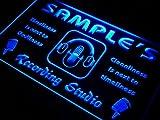 qm-tm Name Personalized Custom Recording Studio Microphone Neon Sign Enseigne Lumineuse