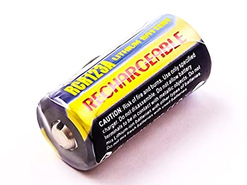 Universal CR123A, CR-123 Li-ion batterie, 500mAh