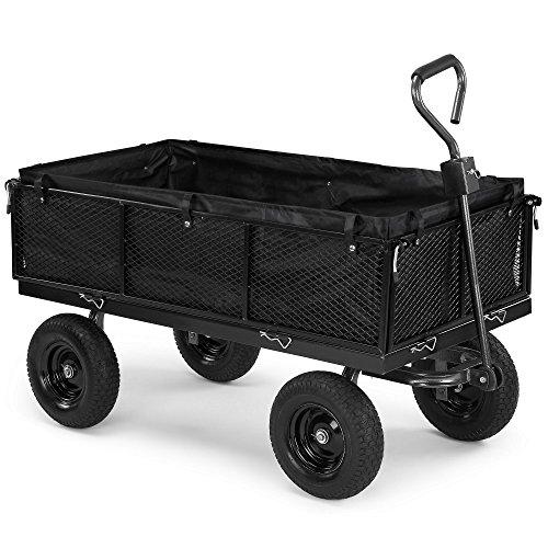 vonhaus-600kg-mesh-garden-cart-with-lining-heavy-duty-4-wheeled-diy-trailer-cart