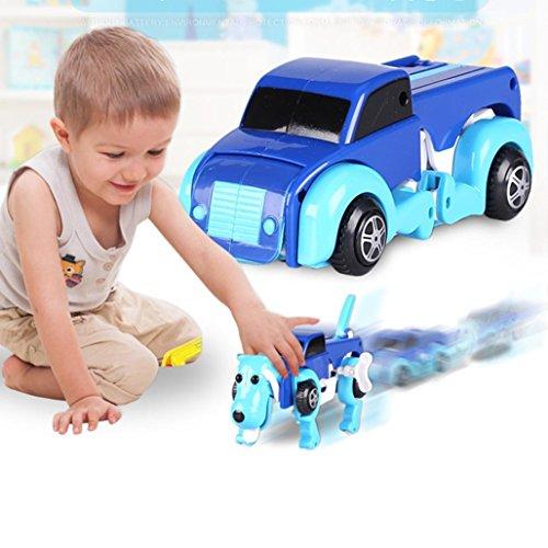 Sammlung Transformator-spielzeug (Baby Kinder Spielzeug, Omiky® der Hund Auto Transformator Neuheit Clockwork verformbare Auto Hund)