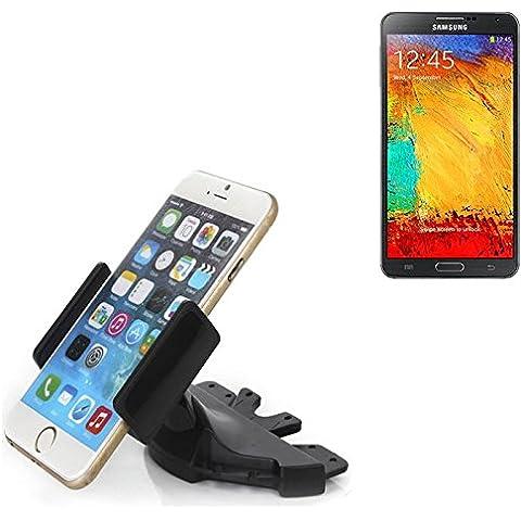 Slot CD Smartphone Supporto per Samsung Galaxy Note 3 | supporto per auto di uso generale per i dispositivi di navigazione / smart phones per il montaggio sullo slot CD dell