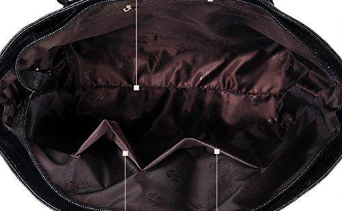 Tibes Borsa Donna in Pelle Donna + Borsa Boston + borsa crossbody + portafoglio + borsa del cellulare + portachiavi 6 pezzi Set Satchel Rosso