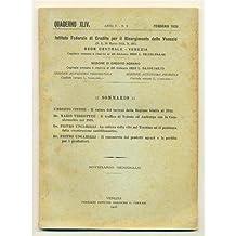 venezia QUADERNO MENSILE 1926 n. 2 Valore terreni Giulia - Traffico Trieste Amburgo Cecoslovacchia - Coltura vite in Trentino - Commercio prodotti agrari