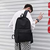 XSBB Collège vent Japon et la Corée du Sud jeunes toile cartables tendance de la mode masculine des élèves du premier cycle du secondaire version coréenne du campus Sac à dos, couleur pure trois ruban