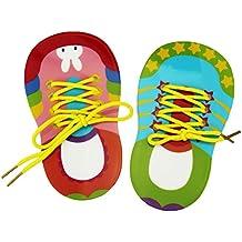 1 Paar fädeln Schleife binden lernen Lernspiel small Foot Schuhe