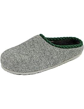 Pantoffelmann® Filzclogs mit Fußbett Unisex Filzpantoffel Herren Damen Hausschuh