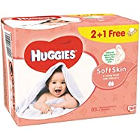 Toallitas Bebé Huggies Soft Skin P3 (2+1 Gratis)