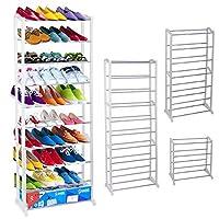Ardisle 30 Pairs Shoe Storage Rack Organiser Shelf Stand Storage White Standing Unit