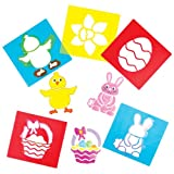 Osterschablonen für Kinder zum Basteln und Dekorieren von Osterkarten und anderen Bastelarbeiten (6 Stück)