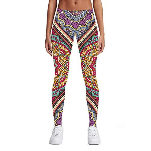 DE-pants-personality Blumen-Gamaschen-Frauen-Grafik-Damen-Bunte Druck-Weinlese 3D druckte die Gamaschen-Hosen der Hosen-Frauen Ladies leggings10 XXL -
