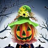 BESTOYARD Halloween Kürbis Laterne Jack-o-Laterne Dekoration Scary Modell mit batteriebetriebenen Figur Statue Spukhaus Dekoration - 7
