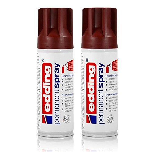 2x edding Permanent Spray purpurrot 200 ml Premium Acryllack, RAL 3004