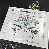 Face Gems Bindi tatuaggio temporaneo gioiello diamante Fusion copricapo gioielli per il corpo Art
