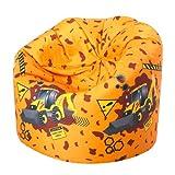 ICON Designer Boys Digger Bean Bag - Indoor/Outdoor Printed Kids Bean Bags YELLOW