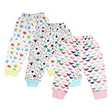 #9: Littly Unisex 100% Pure Cotton Baby Pyjamas Lowers for Kids Toddlers, Pack of 3 (White)
