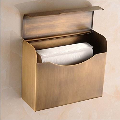 Tissue Box Tissue Halter Badezimmer Toilettenpapier Tablett Halb - Rund Antik Kupfer,Antique-rectangular (Antikes Rundes Tablett)