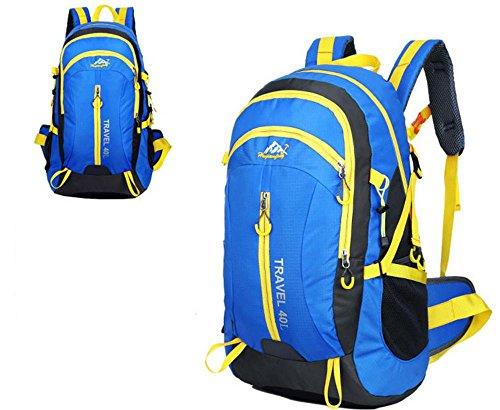 Neuer Rucksack Schultertaschen outdoor Taschen 40L wasserdicht Bergsteigen Reisetaschen Blue