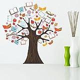 StickMe 'Book Tree Wall Sticker' - SM 304 ( PVC Vinyl - 100cm X 100 Cm )