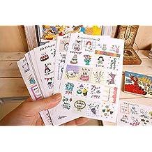16 Hojas / 320pcs Deco del arte pegatinas engomada del diario de papel del regalo de Scrapbooking