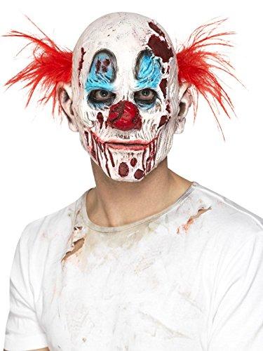 e Clown Maske mit Haaren, Ganzer Kopf, One Size, Bunt, 45021 (Latex-schaum-halloween-masken)