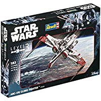 Revell Modellino di Star Wars Arc 170Fighter in scala 1: 83, Level 3, Riproduzione fedele all' originale con molti dettagli, facile da incollare e dipingere, 03608