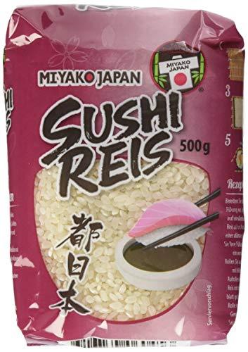 MIYAKO Sushi Reis, Rundkorn, 8er Pack (8 x 500 g)