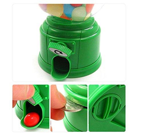 QUINTRA Klassische Vintage Doppel Kaugummi Maschine Bank Candy Dispenser Gumball Spielzeug (Grün) (Candy Kostüm Kleinkind)