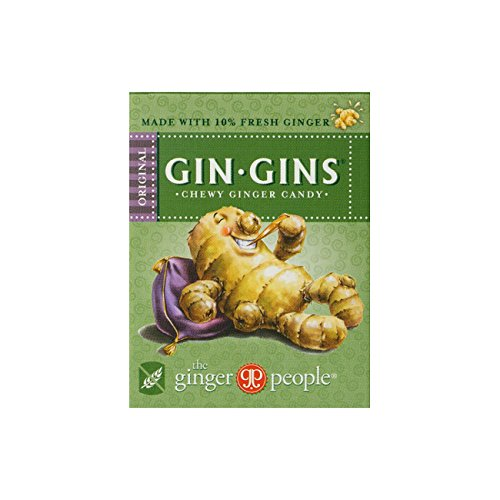 Ginger People Gin Gins Original Ginger Chewing Candy 42g (pack of 12)
