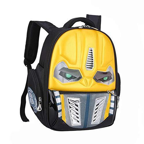 Cartoon Schulrucksack/Roboterrucksack/Kindergartentasche Rucksack Gelb 38 * 30 * 14Cm (Jungen Under Spinne Armour)