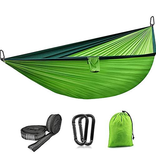 VANWALK Hängematte Outdoor Camping Garten für 2 Personen Ladekapazität von 300kg Ultraleicht für Wandern Reisen Strand Grün 270x140cm
