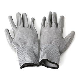 Lergo, 1paio di guanti da lavoro, per sicurezza, con palmo rivestito in nylon e poliuretano, per giardinaggio, muratura