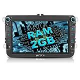 PUMPKIN Android 7.1 Octa Core Autoradio Multimedia Player für VW ( 2GB + 32GB) mit GPS Navigation 8 Zoll Bildschirm Unsterstützt Bluetooth DAB+ WLAN Lenkradsteurung USB MicroSD AV-OUT (Android 5.1 2GB RAM Autoradio)