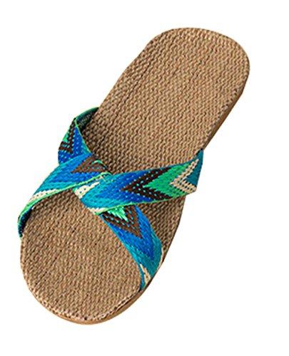 kiss-goldtm-zapatillas-de-casa-de-lino-estilo-bohemio-nuevo-mujerverde-38