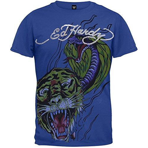 Ed Hardy Mädchen T-Shirt Blau - T-shirt Ed Hardy