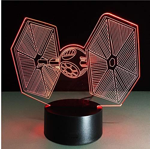 Nachtlicht 3D führte Schreibtisch-Lampen-Baby-Raum-Usb-Nachtlicht-Befestigungen für Star Wars-Fans (Baby-raum Wars Star)