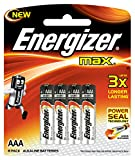 #9: Energizer MAX Alkaline Battery E92BP8 AAA Value Pack - Total 8 AAA Batteries