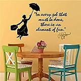 wandaufkleber 3d Wandtattoo Wohnzimmer Mary Poppins Julie Andrews In jedem Job, dass Wand Zitat Aufkleber Aufkleber Mädchen Schlafzimmer