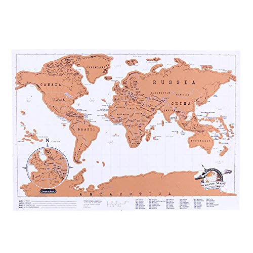Amilty Scratch Off Mapa del Mundo